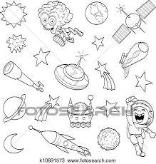 漫画 外宇宙 セット クリップアート切り張りイラスト絵画集