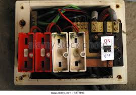 fuse fire stock photos fuse fire stock images alamy old style consumer unit electrical wire fuse box stock image