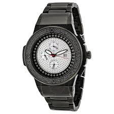 jbw saxon black steel black diamond dial men s watch jb 6101 164 c