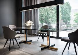 Furniture Dining Table Designs Catlin Dining Table And Leslie Little Armchairs Rodolfo Dordoni
