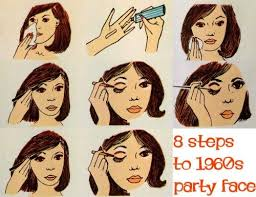 1960s makeup eight steps to a party