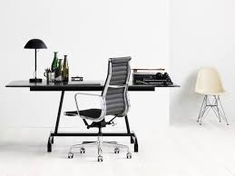 eames management chair. Small Office With A Black Eames Aluminum Group Chair, AGL Table, Management Chair