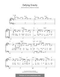 defying gravity sheet music defying gravity from the broadway musical wicked by s schwartz on