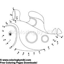Dot To Dot Game Cartoon Submarine Coloring Page 1144 Ultimate