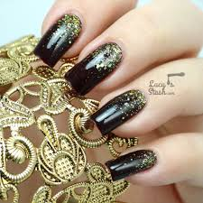 Gold Glitter Gradient Nail Art with Video Tutorial - Lucy's Stash