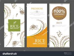 Food Product Poster Design Rice Thailand Food Product Vector Design Stock Vector