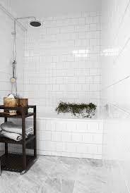 The Design Chaser A Touch Of Green Marble Bathroom Floor White Bathroom Tiles Scandinavian Bathroom Design Ideas