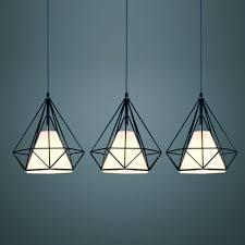 woxoyozo modern metal pendant s diamond cage style edison bulb hanging lamp fixture for restaurant club
