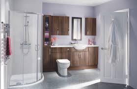 big bathroom designs. Exellent Big Modern Bathroom With Walnut Furniture And Quadrant Shower Enclosure For Big Bathroom Designs