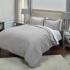 rizzy home silver solid pattern queen linen duvet bedding