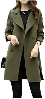 Sinfu Womens Autumn Winter Jacket Casual Double ... - Amazon.com