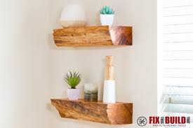 try these diy shelves from desert domicile she shows you exactly how to make floating shelves for just 15 we love the chunky wood look of these