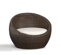 Wicker papasan chair Plastic Roll Over Image To Zoom Pottery Barn Torrey Allweather Wicker Papasan Chair Espresso Pottery Barn