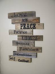 wood sign pallet sign pallet art fruits of the spirit scripture art wall decor gift ideas wedding gift wooden sign distressed wood