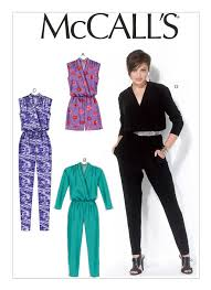 Women's Romper Pattern Custom M48 Misses' BlousonBodice Romper And Jumpsuit Sewing Pattern