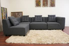 modern sectional sofas. Gray Fabric Modular Sectional Sofa Modern Sofas