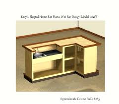 easy to build 4 x 8 foot l shaped home bar plans wet design model building