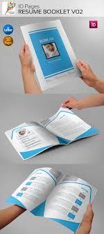 resume booklet graphicriver 10 pages resume booklet v02