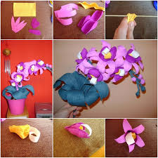 Paper Orchid Flower How To Make Crepe Paper Orchid Flower Bouquet Fab Art Diy Tutorials