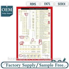 Metric Conversion Chart For Kids Comprehensive Kitchen Conversion Chart Easy To Read Magnetic Chef Accessories Cooking Baking Metric Measuring Measurement Buy Comprehensive Kitchen