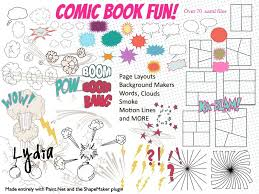 Paint Net Templates Comic Book Text Words Templates Shape Pack To Use Within