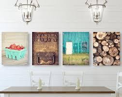 Farmhouse Wall Art, Kitchen Wall Decor, SET Of FOUR Prints Or Canvases,  Farmhouse