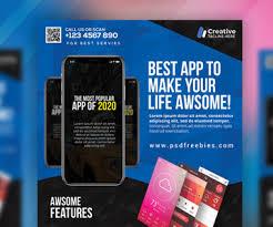 Make Flyer App Flyer Design Free Psd Download