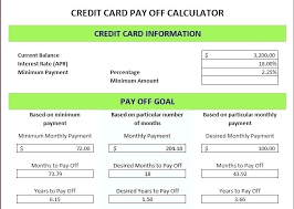 How Are Credit Card Payments Calculated Credit Card Calculator Excel Debt Payment Calculator Excel Download