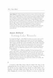 "a close reading of dillard s ""living like weasels"" annie d illard gregteach net"