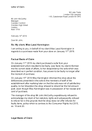 Letter Of Claim Contract Law London Met Studocu