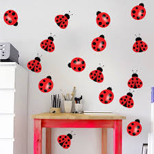 wall décor home décor lady bugs wall decal
