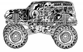 Small Picture The Stylish along with Lovely Grave Digger Coloring Page regarding