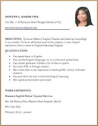 Curriculum Vitae Maker Mesmerizing Sample Of Applicant Resume Resume Format Resume Format And Resume