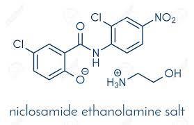 Immagini Stock - Niclosamide Etanolamina Tenia Molecola Farmaco  (antielmintico). Può Essere Utile Come Farmaco Antidiabetico, Fungendo Da  Disaccoppiatore Mitocondriale. Formula Scheletrica. Image 93300824.