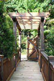 wooden bridge design wooden bridge design landscape traditional with wood railing natural finish arbors free small