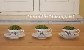 Decorating With Teacups And Saucers Moss Filled Tea Cup Party Table Decoration Fun In The Making 30
