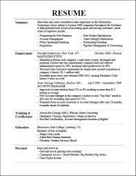 resume effective
