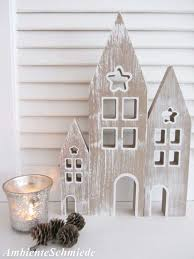 Holz Haus Haus Fassade Häuser Kulisse Lichterhaus 3 Tlg Deko