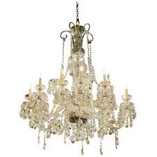 1960s elegant waterford crystal chandelier with 15 lights for