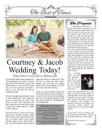Newspaper Engagement Announcement Templates Courtney And Jacob Wedding Program Wedding Engagement