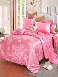 Buy 4 Pcs Duvet Cover Set Cotton Satin Brocade Jacquard Solid Color Comfort  Wedding Bedding & Duvet & Sets - at Jolly Ch