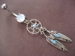 Dream Catcher Belly Button Ring Hot Topic Catcher Belly Button Ring Jewelry Bar Turquoise Dangle Navel 66