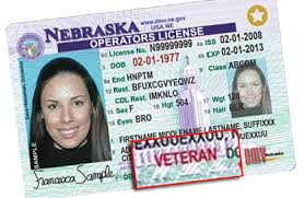 Department Veterans' Vehicles Motor Designation Nebraska Of