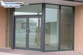 decorative frameless glass entrance