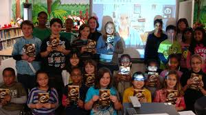 second graders concluded their book study on marty mcguire with a visit from kate messner although there were a couple of technical glitches the visit