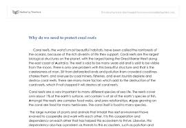 why do we need to protect coral reefs gcse english marked by  document image preview