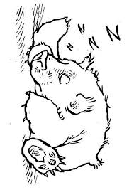 Small Picture Coloring page sleeping bear img 7580