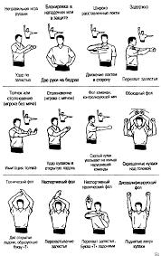Продемонстрируйте жесты судьи по баскетболу волейболу или футболу Позиция 2 типы фолов