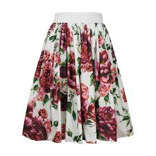 2019 <b>2018 High Quality Fashion</b> Rose Print Skirts Women Female ...