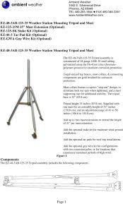 Guy Wire Design Ez 48 3ab Weather Station Mounting Tripod And Mast Pdf